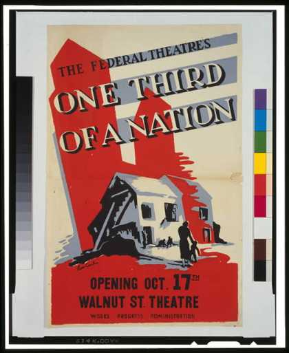 "The Federal Theatre's ""One third of a nation"" / Leon Carlin. (1936)"