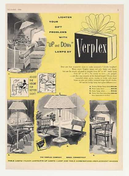 Verplex Up and Down Lamps 4 Styles (1955)