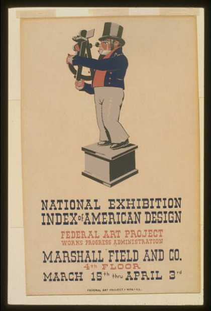 "National exhibition ""Index of American Design"". (1936)"