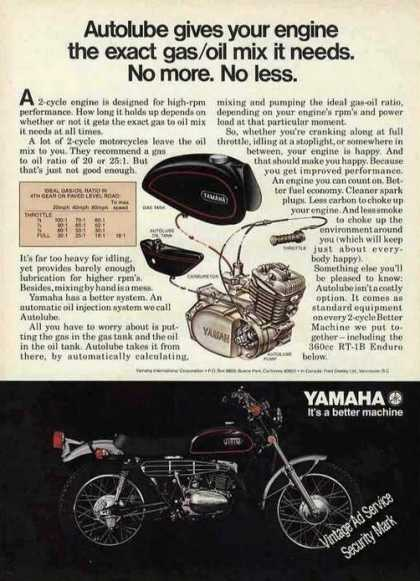 Yamaha 360cc Rt-1b With Autolube Motorcycle (1971)