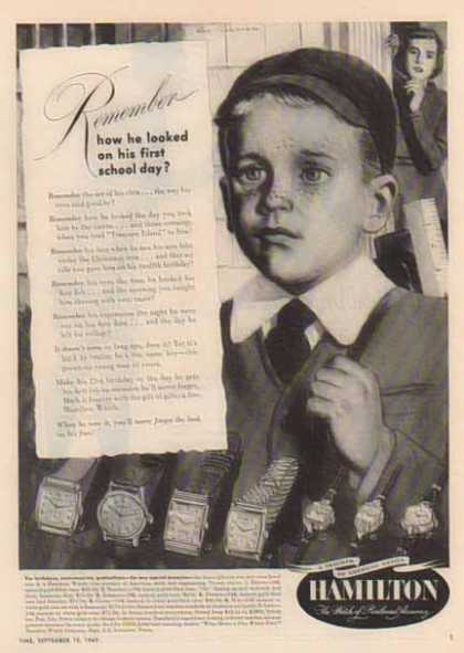 Hamilton Watch – First Day of School (1949)