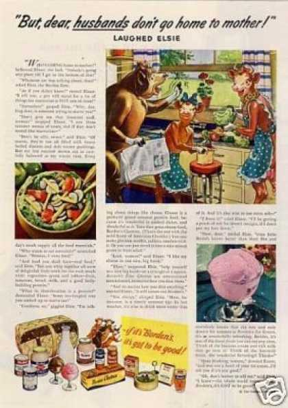 "Borden's Ad ""But Dear, Husbands Don't.... (1946)"