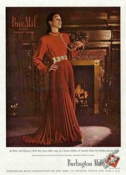 Bur-mil Rayon Faille Crepe Fashion (1947)