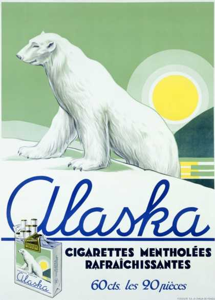 Alaska Brand Polor Bear Cigarette