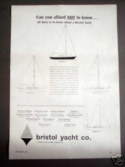 Bristol Yacht Co. Boat Sailboat (1965)