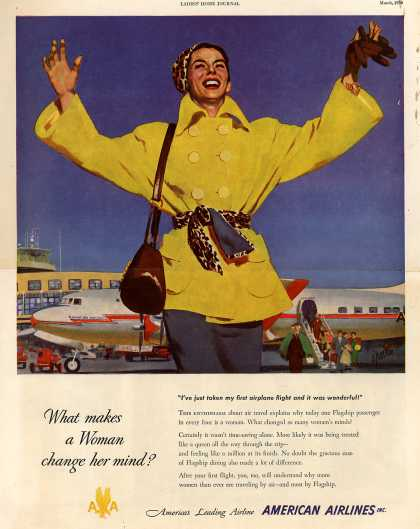 American Airlines – What Makes a Woman Change Her Mind? (1950)