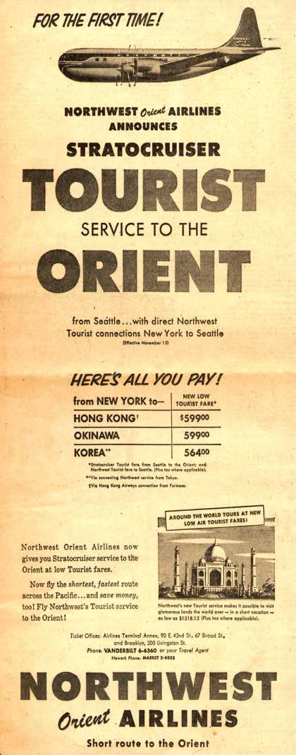 Northwest Orient Airline's Orient – For The First Time (1953)