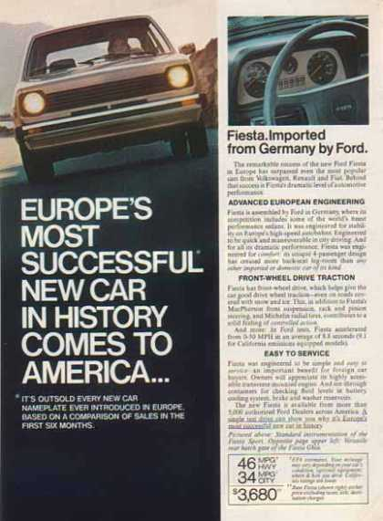 Ford Fiesta Car – Europe's Most Successful New Car In History (1977)