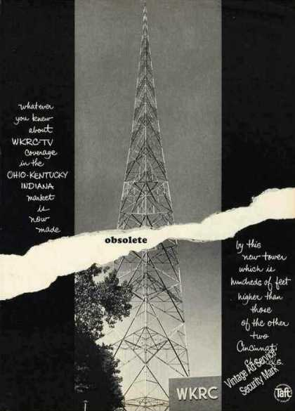 Wkrc-tv Cincinnati New Tv Tower Photo (1962)