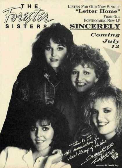 "Forester Sisters ""Sincerely"" Album Photo (1988)"
