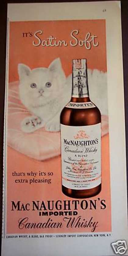 White Cat Art Mac Naughton&#8217;s Whiskey (1950)