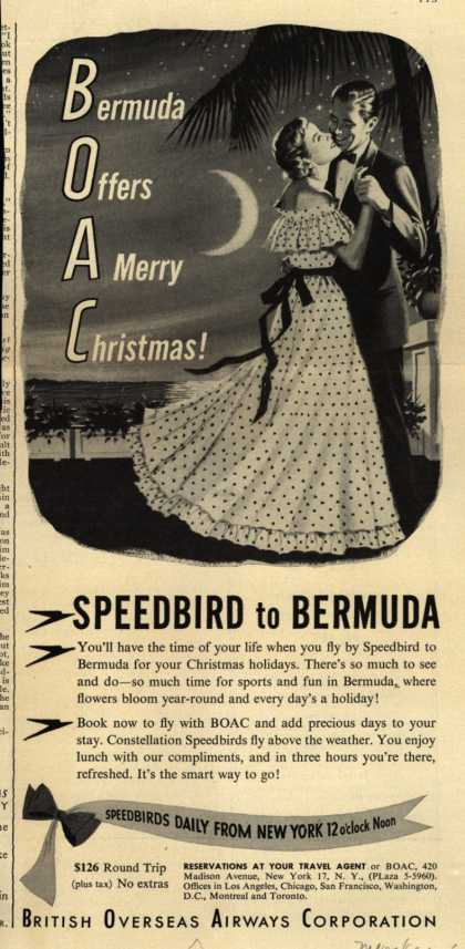 British Overseas Airways Corporation's Bermuda – Bermuda Offers A Merry Christmas (1949)