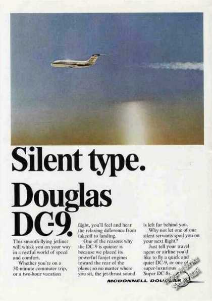 "Douglas Dc-9 ""Silent Type"" Airplane (1968)"