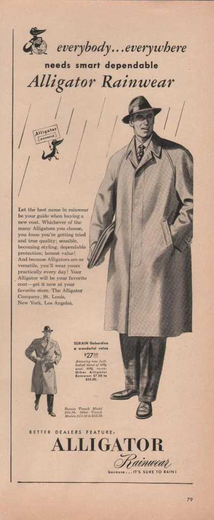 Alligator Mens Rainwear Coat (1949)