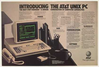 Introducing AT&amp;T UNIX PC Personal Computer D-Pg (1985)