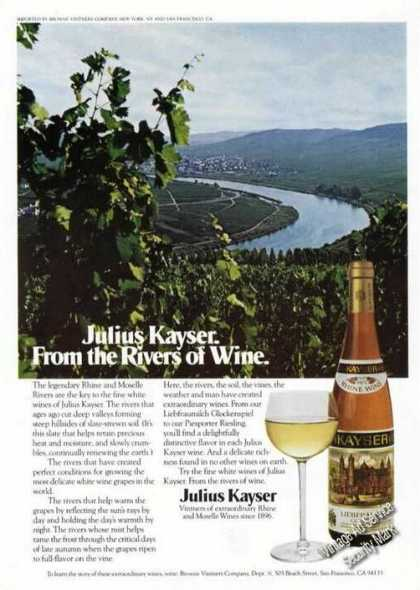 Julius Kayser From the Rivers of Wine Photo (1974)