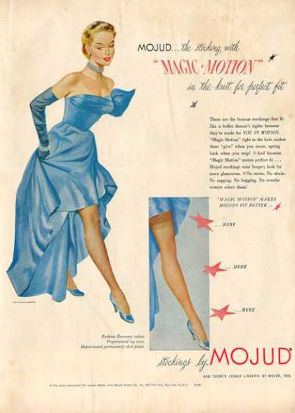 Mojud Womens Stockings Hosiery Ad T (1951)