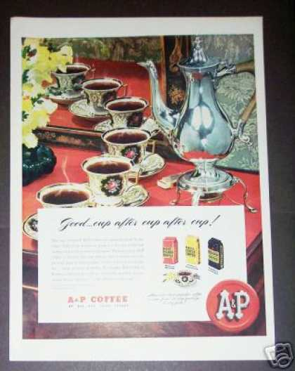 Crown Derby Cups & Saucers A&p Coffee Art (1947)