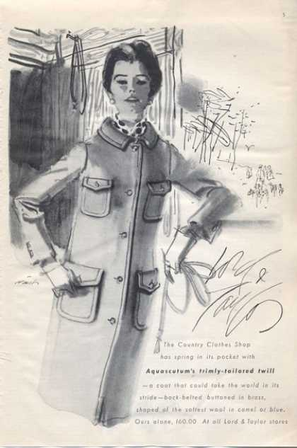 Lord & Taylor Fashion Aquascutum Wool (1965)