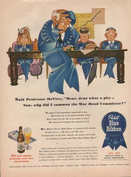 Professor for Pabst Blue Ribbon Beer (1944)