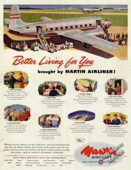 Martin Airliners Better Living Advertising (1947)