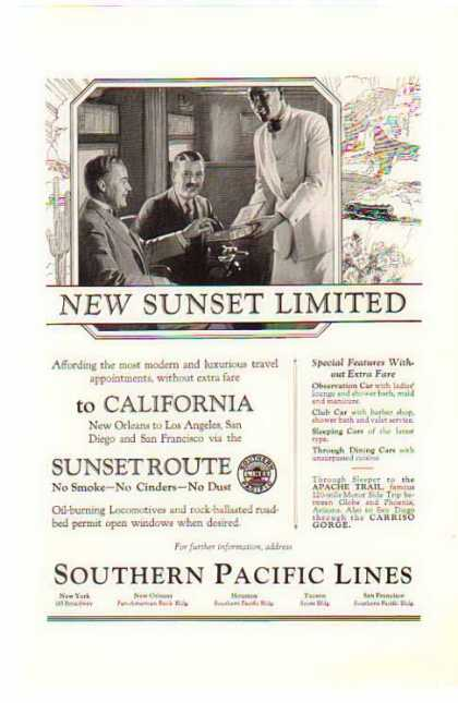 Southern Pacific Railroad – Sunset Route (1924)