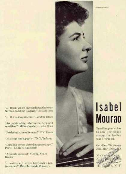 Isabel Mourao Brazilian Pianist Booking (1955)
