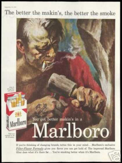 Rock Sculpture Tattoo Marlboro Cigarettes (1959)