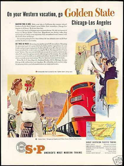 SP Southern Pacific Train Railroad Golden State (1951)
