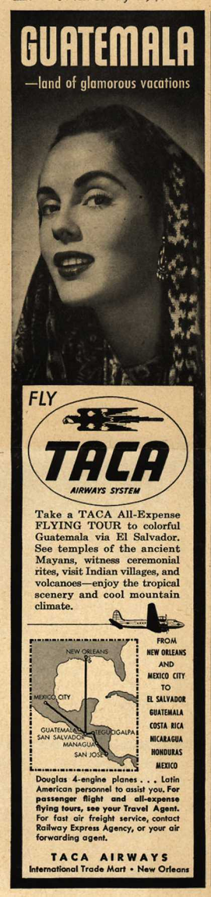 TACA Airways System's Guatemala – Guatemala -land of glamorous vacations (1948)