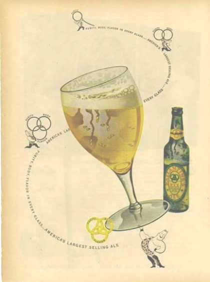 Ballantines Ale Color – Weight Lifter (1948)