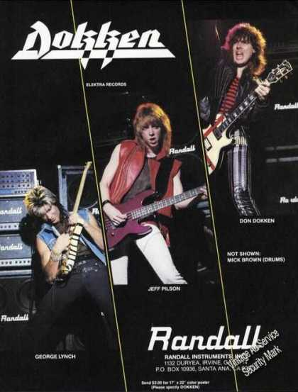George Lynch/jeff Pilson/don Dokken Photos (1985)