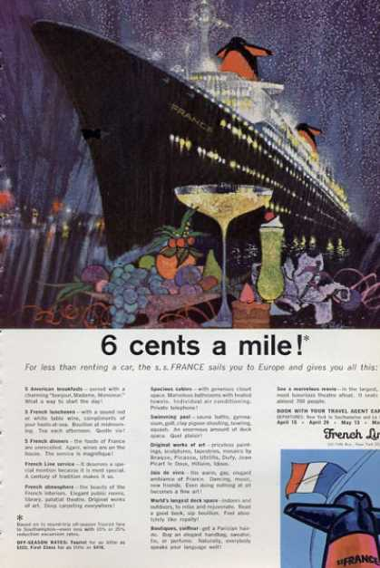 French Line Cruise Ship Boat Food (1965)