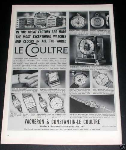 Le Coultre Watches & Clocks, Exc (1949)