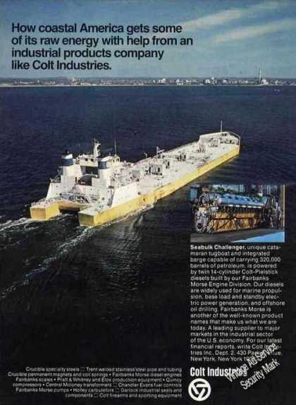 Catamaran Tugboat/barge Photo Colt Industries (1976)