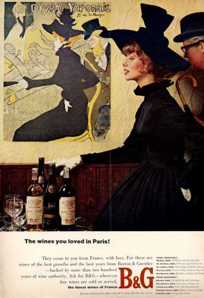 B&g Wine of Paris Bottle (1964)