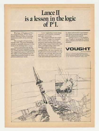 Vought Lance II Missile Preplanned Improvement (1982)