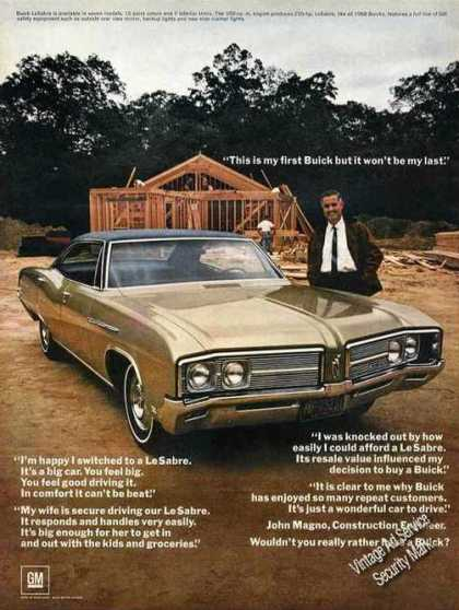 "Buick Lesabre Photo ""This Is My First Buick"" (1968)"
