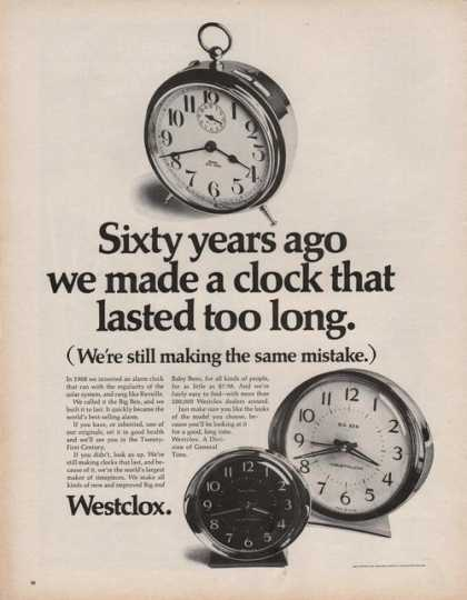 Westclox Big Ben Clocks (1969)