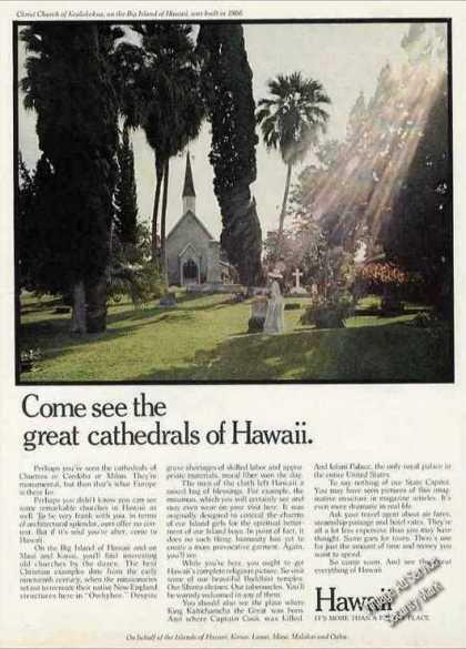 Come See the Great Cathedrals of Hawaii Travel (1971)