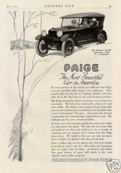 Paige Linwood Six Car (1919)