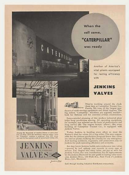 '51 Caterpillar Tractor Factory Jenkins Valves Photo (1951)