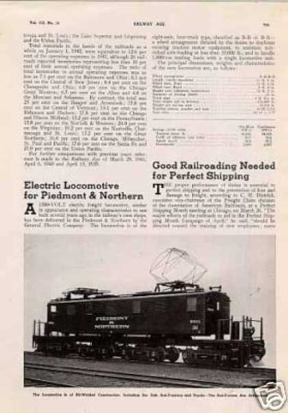 """Electric Locomotive for Piedmont & Northern"" (1942)"