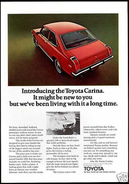 Red Toyota Carina Car Photo Print Vintage (1972)