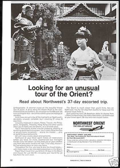 Northwest Orient Airlines 37 Day Tour (1966)