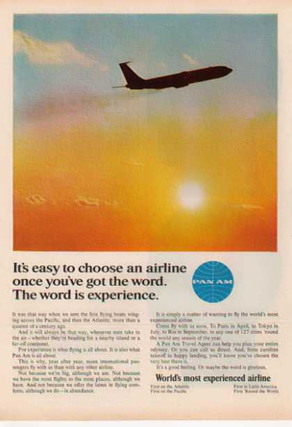 Pan Am Airline – World's most experienced airline (1966)