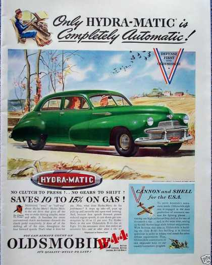 Oldsmobile Hydra Matic Fall Autumn Drive Leaves (1942)