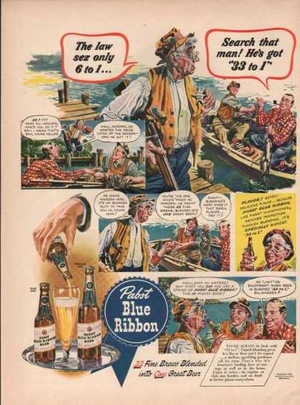Pabst Blue Ribbon Beer (1942)