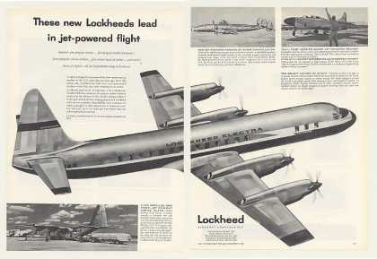 Lockheed Electra Airplane Aircraft 2-Page (1955)