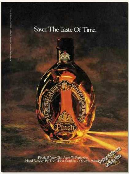 "Pinch 15 Year Old ""Savor the Taste of Time"" (1989)"